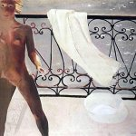 Alexander Alexandrovich Deyneka (1899-1969)  On the balcony  Oil on canvas, 1931  100x105 sm  Moscow, collection of family of the artist